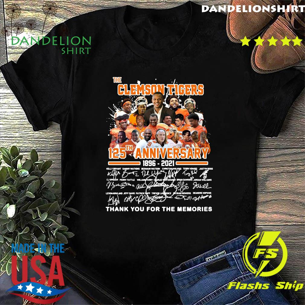 The Clemson Tigers 125th Anniversary 1896 2021 Thank You For The Memories Signatures Shirt