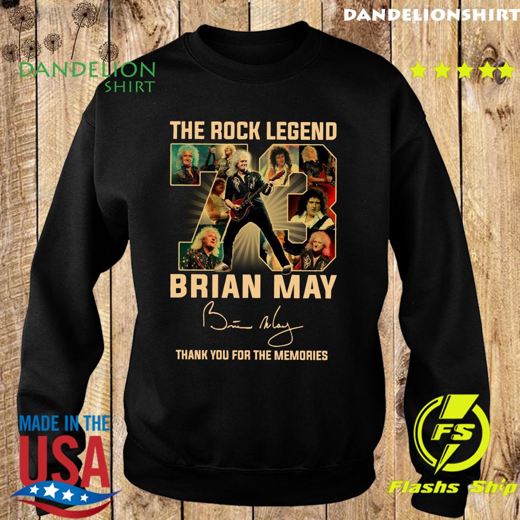 The Rock Legend 73 Brian May Thank You For The Memories Signature Shirt Sweater