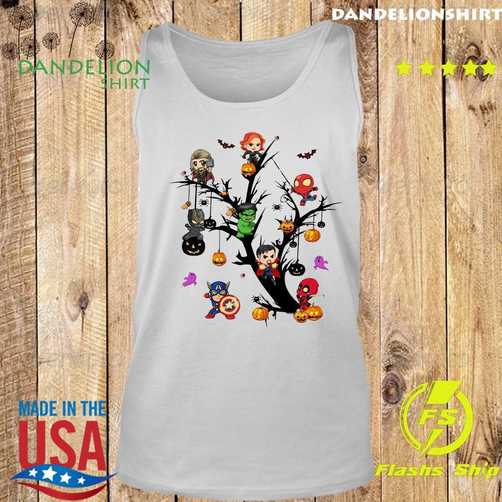 Avengers Superheroes Tree Halloween Pumpkin Shirt Tank top