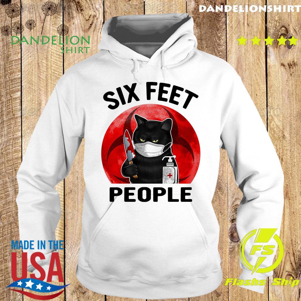 Black Cat Face Mask Knife Blood Six Feet People Moon Shirt Hoodie