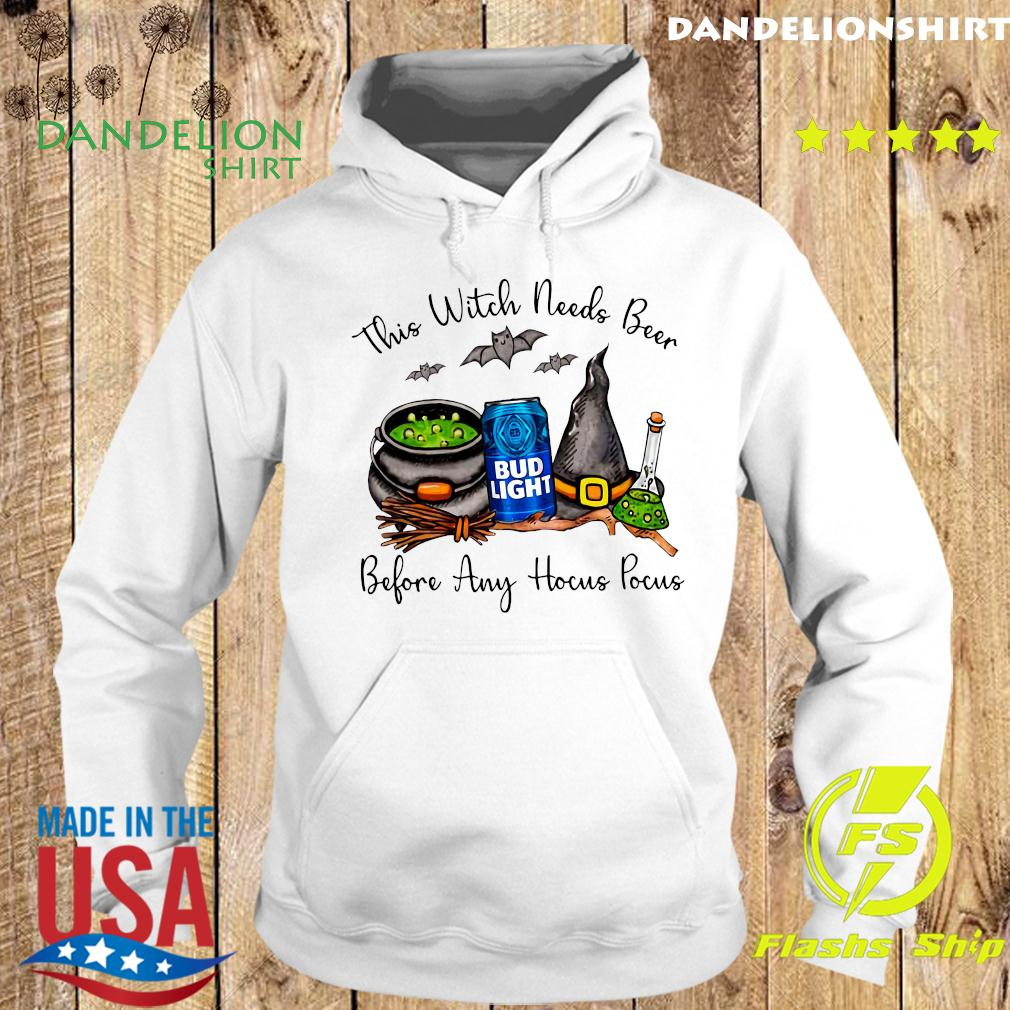 Bud Light This Witch Needs Beer Before Any Hocus Pocus Halloween Shirt Hoodie