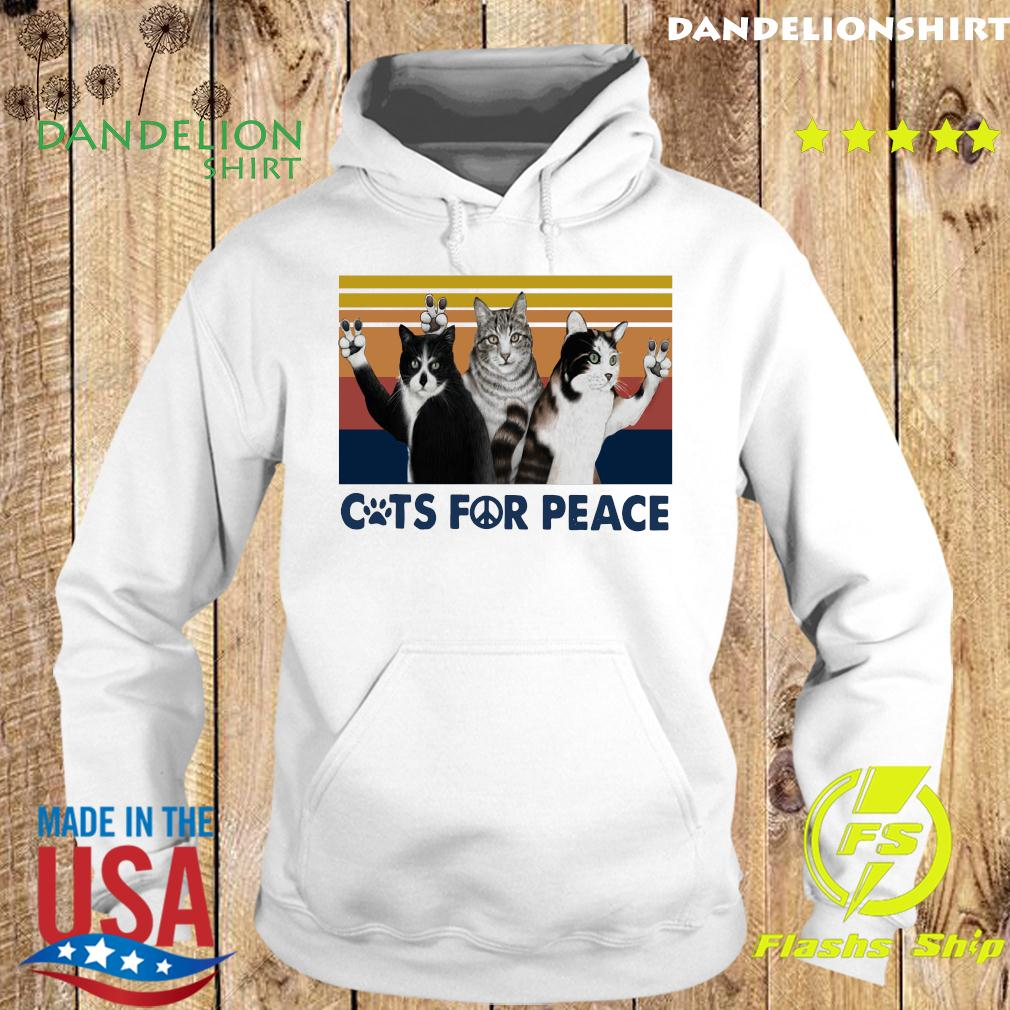 Cats For Peace Vintage Retro Shirt Hoodie