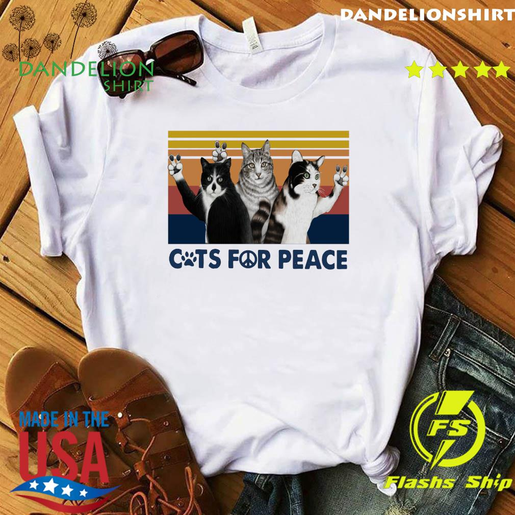 Cats For Peace Vintage Retro Shirt
