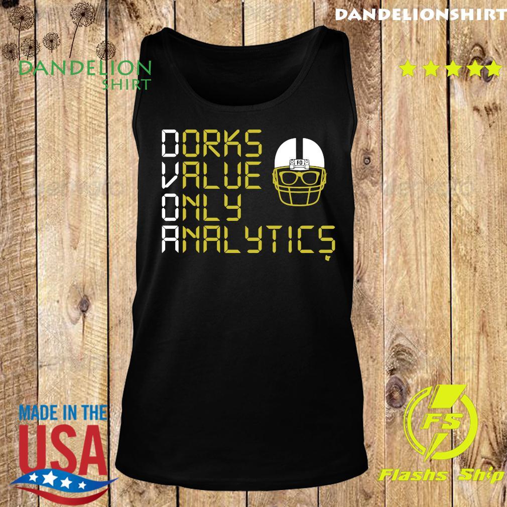 Dorks Value Only Analytics DVOA Football Outsiders Shirt Tank top