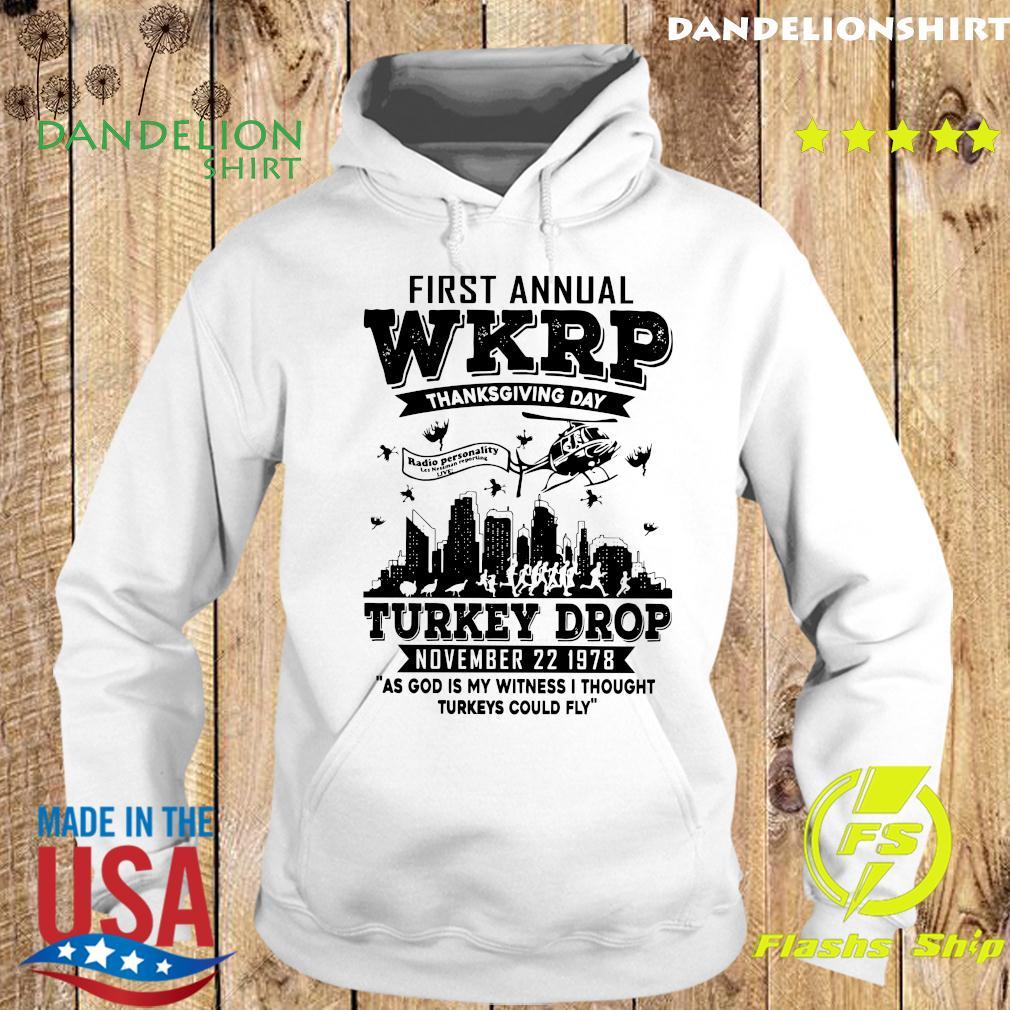 First Annual Wkrp Thanksgiving Day Turkey Drop November 22 1978 Shirt Hoodie