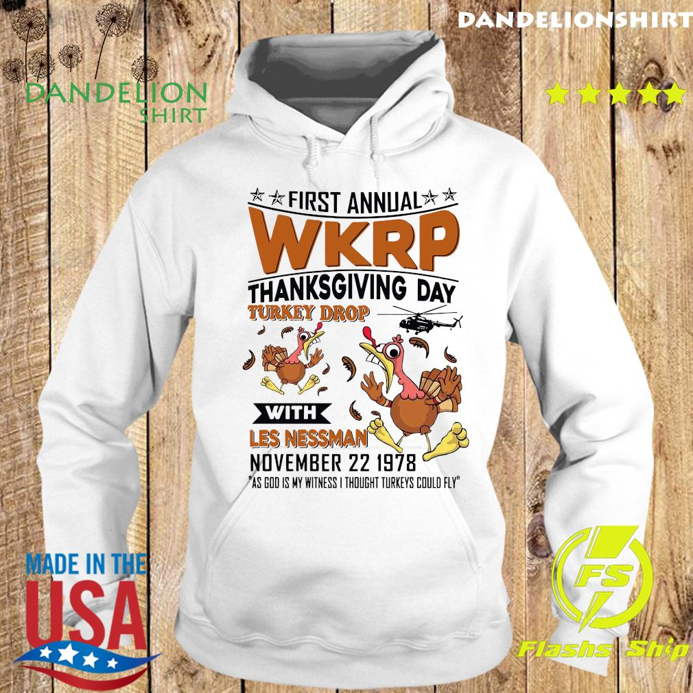 First Annual Wkrp Thanksgiving Day Turkey Drop With Les Nessman November 22 19978 Shirt Hoodie