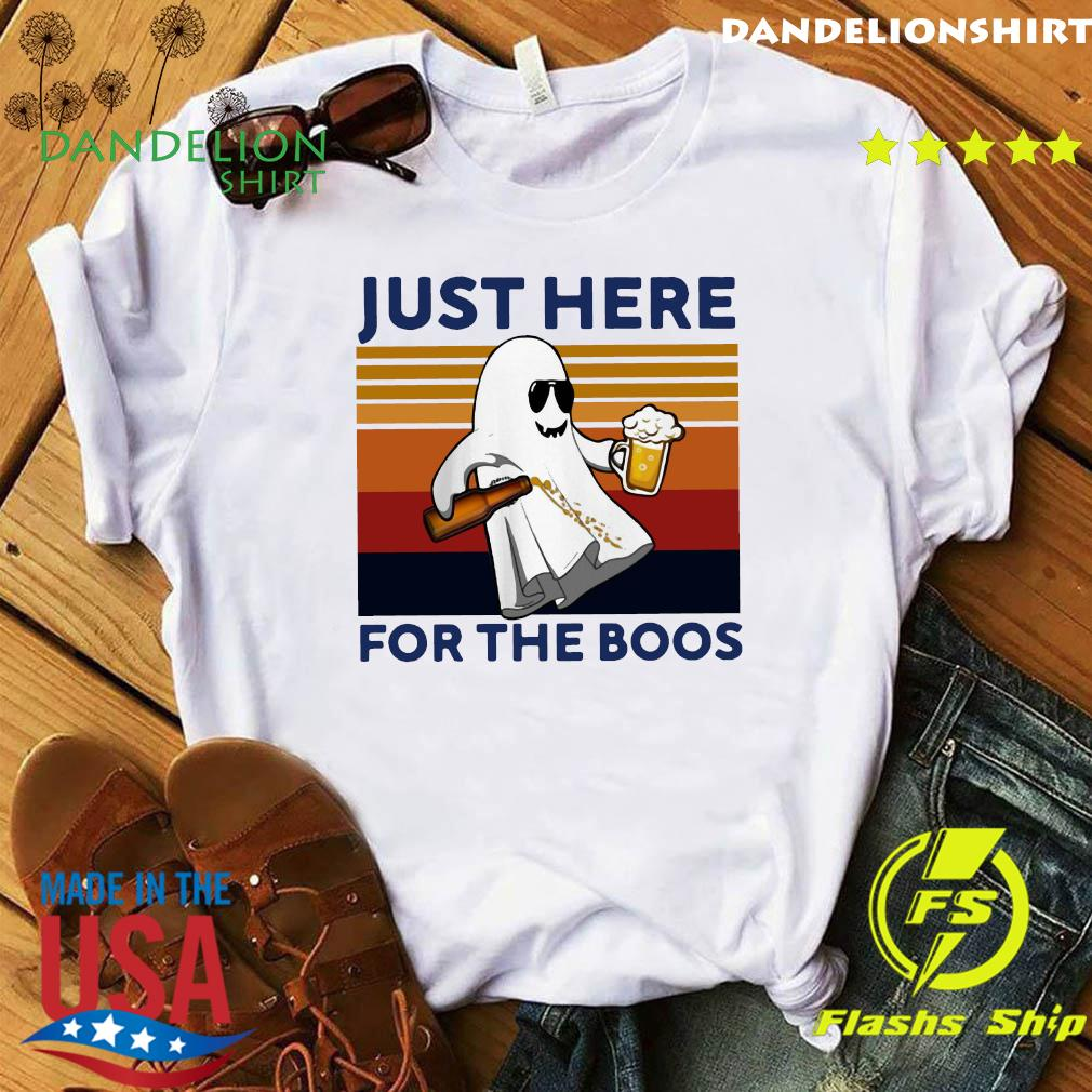 Ghost Beer Just Here For The Boos Vintage Retro Shirt