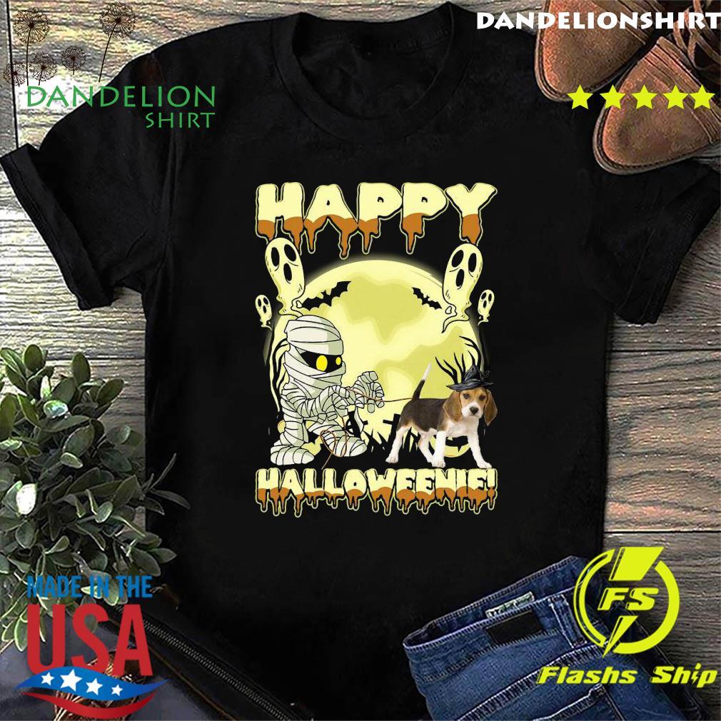 Mummies Beagle Dog Happy Halloween Moon Shirt