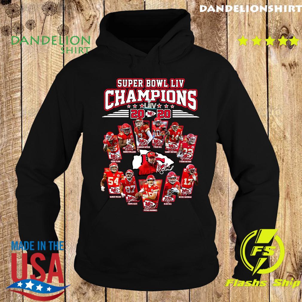Super Bowl Liv Champions 2020 Kansas City Chiefs Signatures Shirt Hoodie