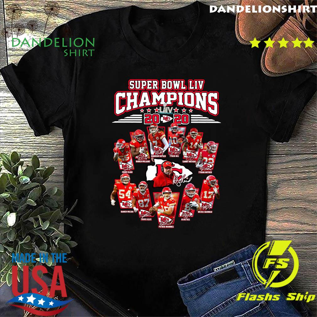 Super Bowl Liv Champions 2020 Kansas City Chiefs Signatures Shirt