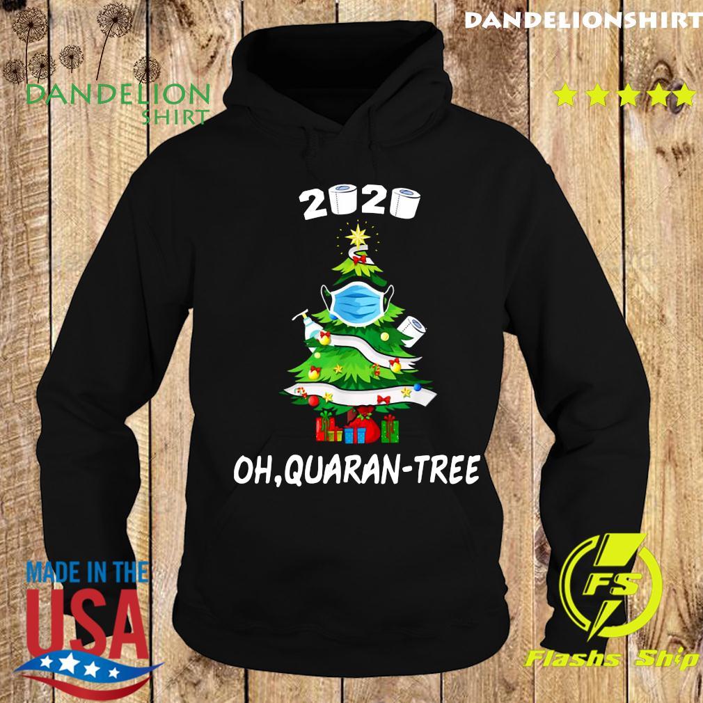 2020 Funny Quarantine Christmas Tree Mask Ornament Sweats Hoodie