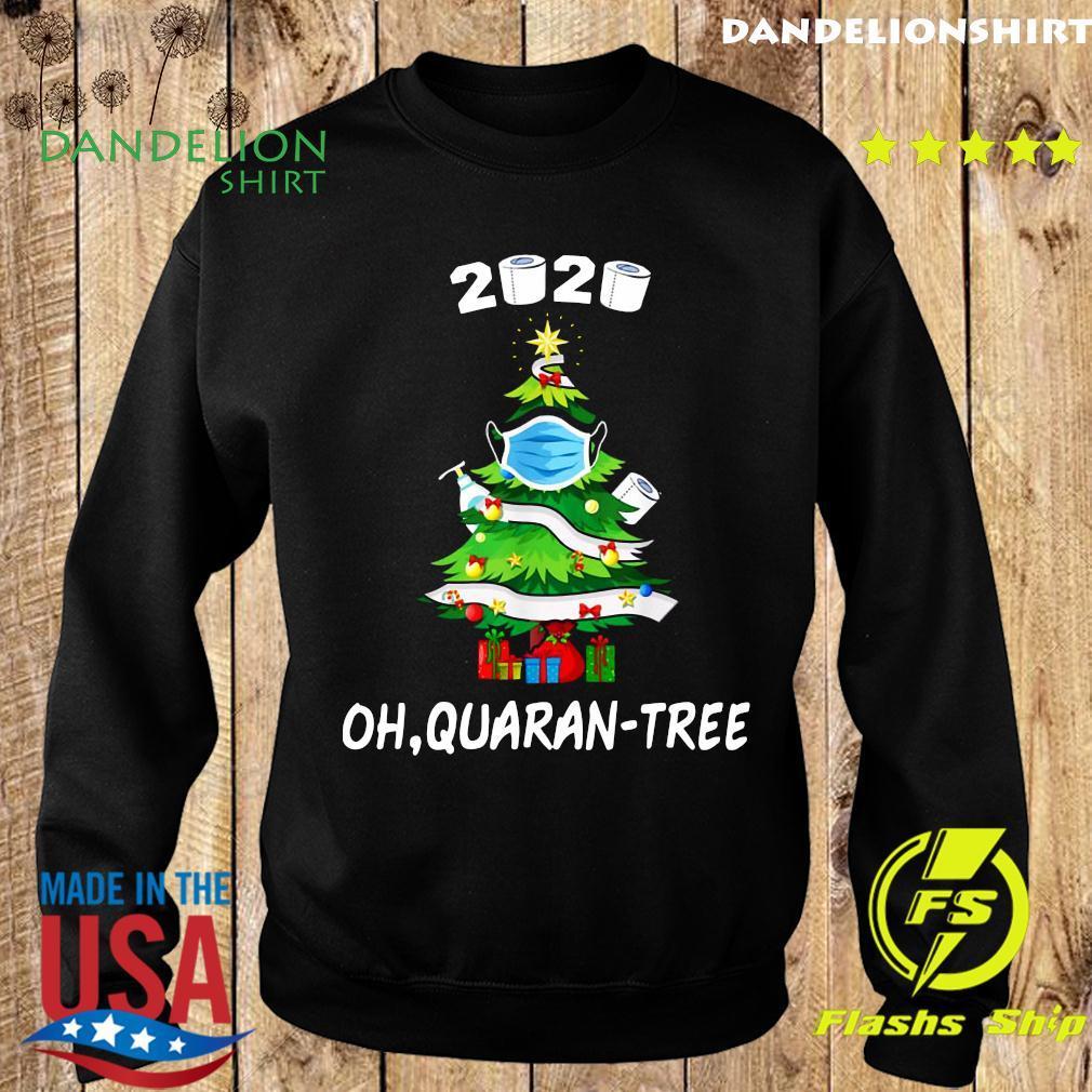 2020 Funny Quarantine Christmas Tree Mask Ornament Sweatshirt