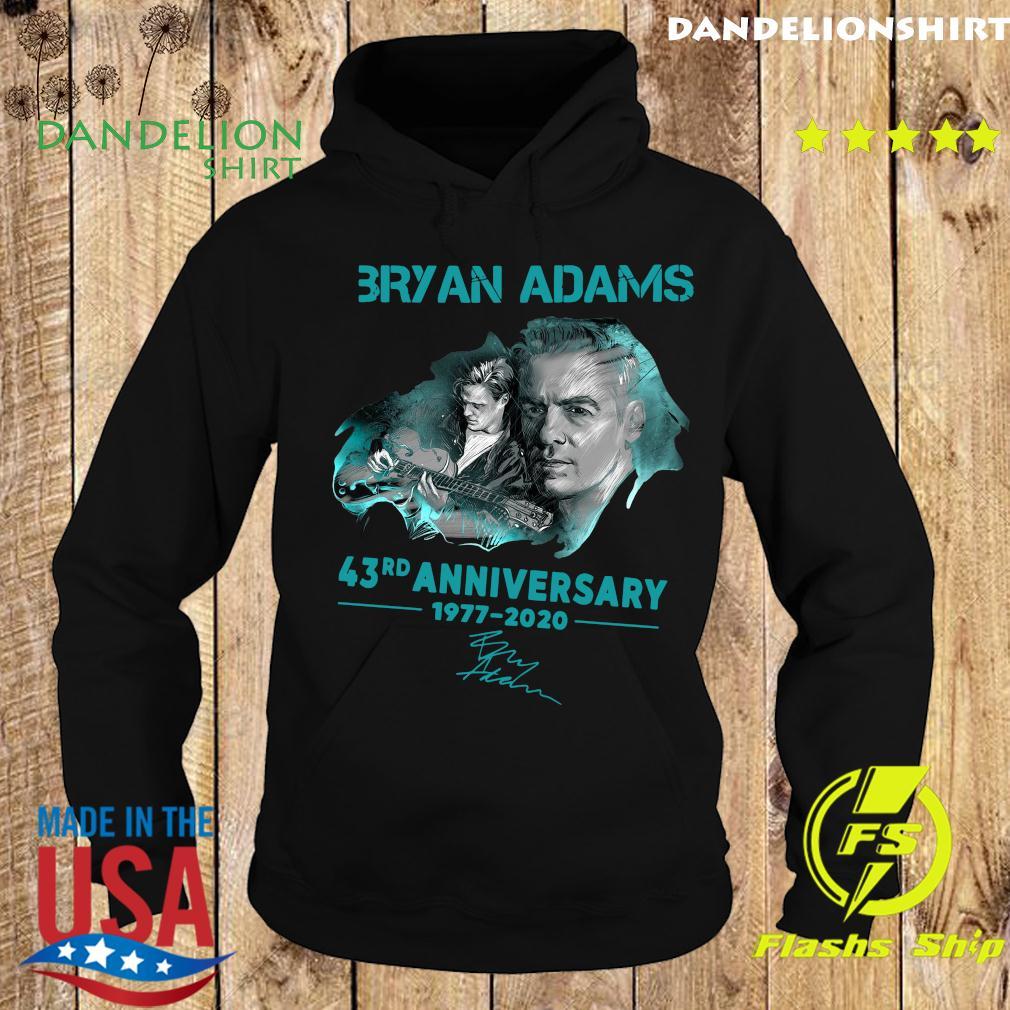 Bryan Adams 43rd Anniversary 1977 2020 Signature Shirt Hoodie