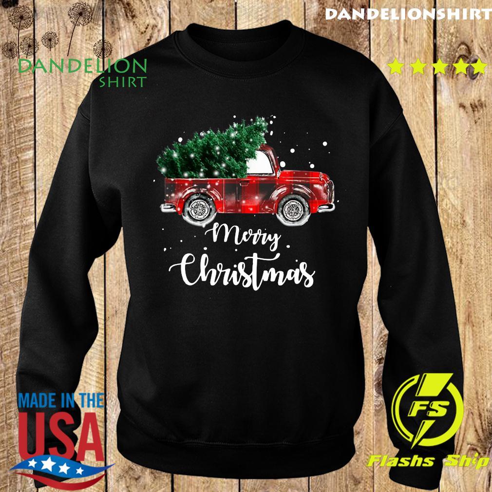 Buffalo Plaid Christmas Tree Red Truck Sweatshirt