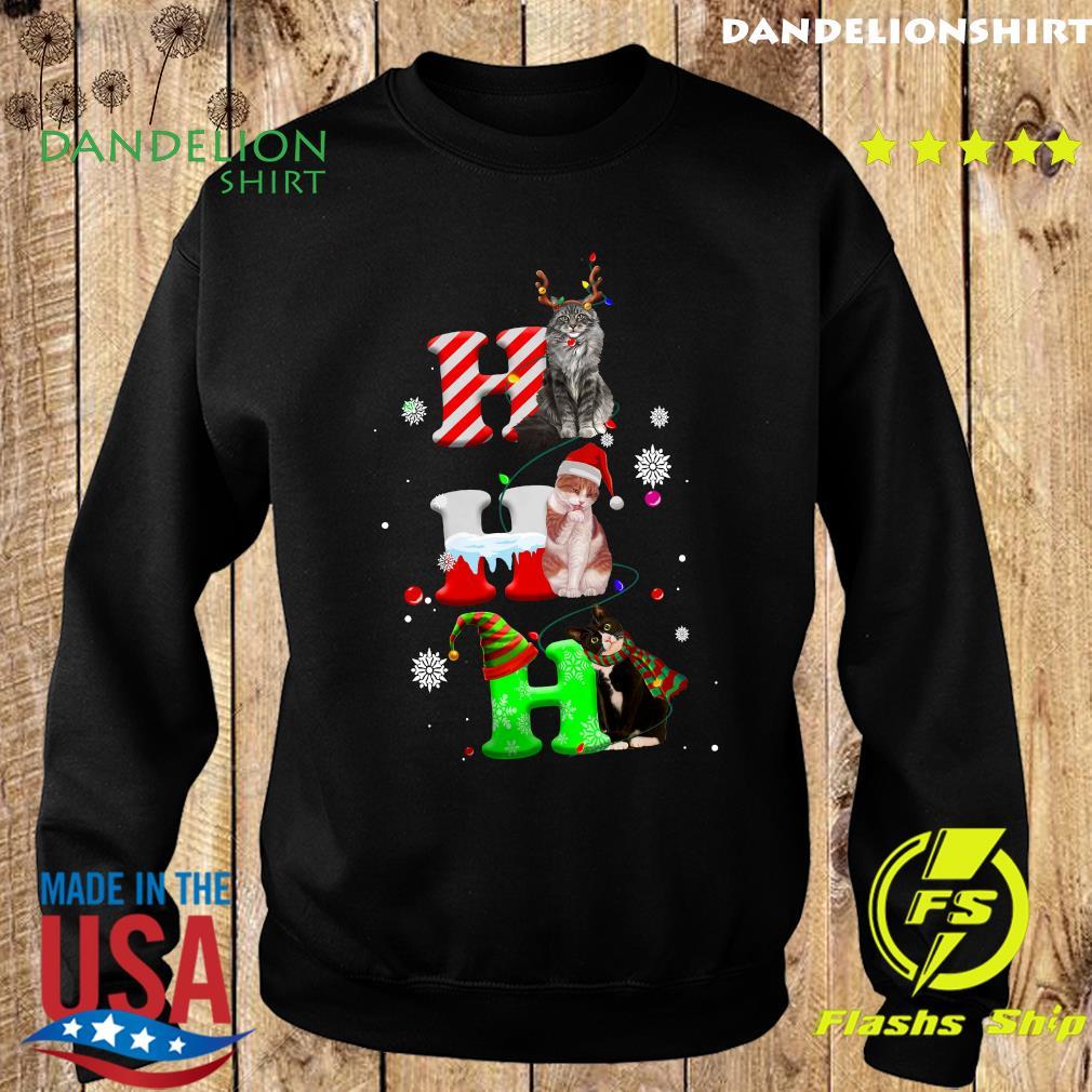 Cats Ho Ho Ho Merry Christmas Sweatshirt