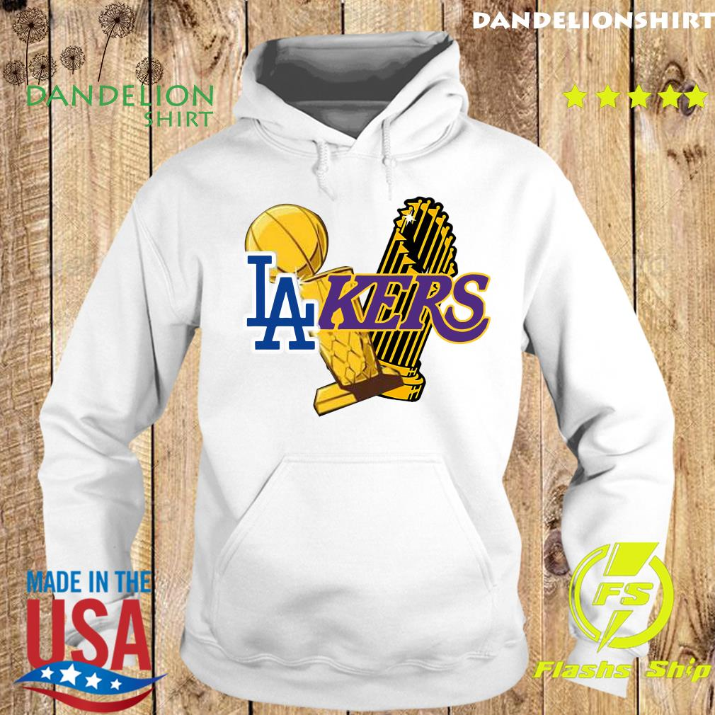 Dodgers Lakers 2020 World Champions Trophies Champions Shirt Hoodie
