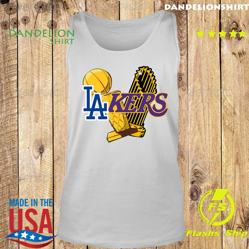 Dodgers Lakers 2020 World Champions Trophies Champions Shirt Tank top