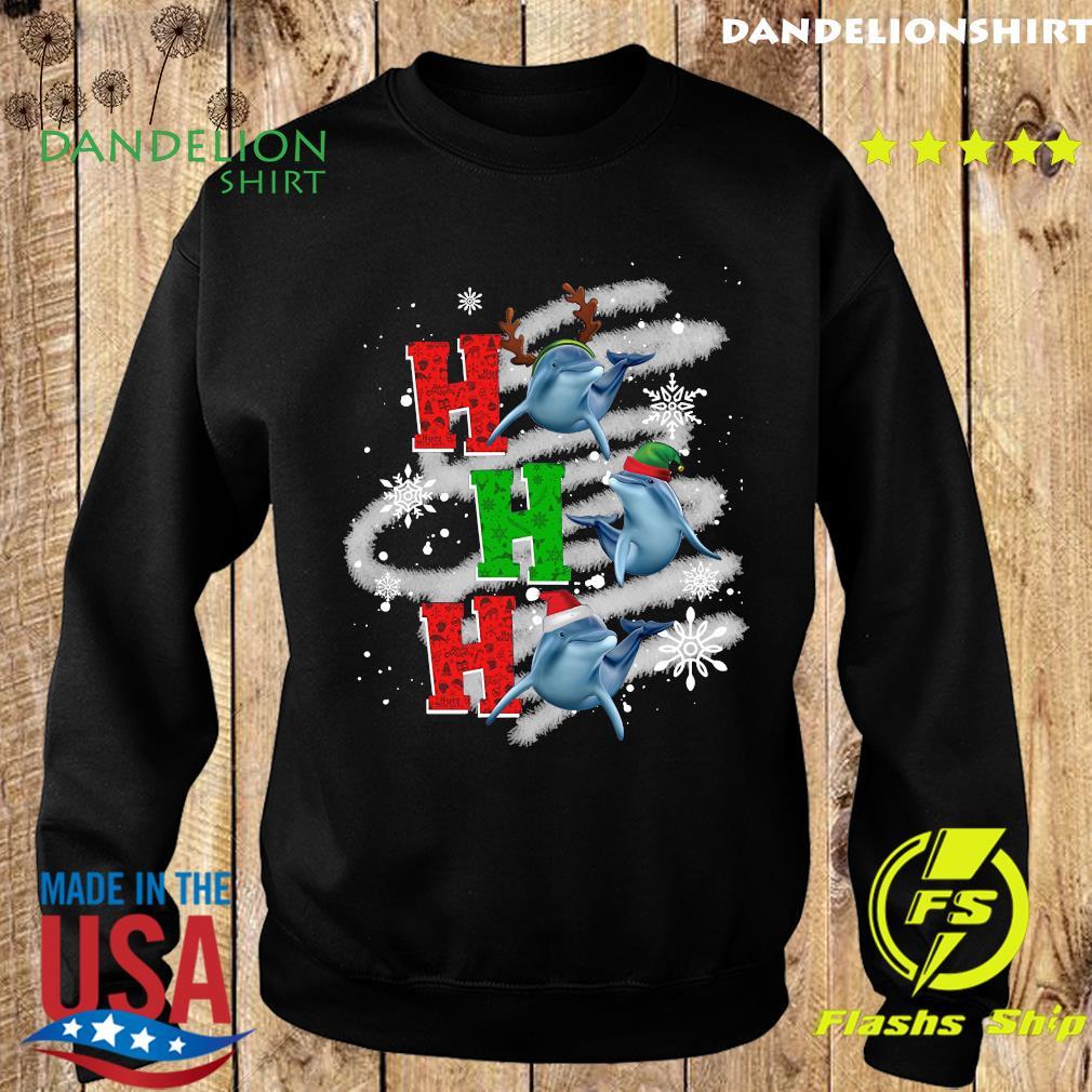 Dolphin Reindeer Ho Ho Ho Merry Christmas Sweatshirt