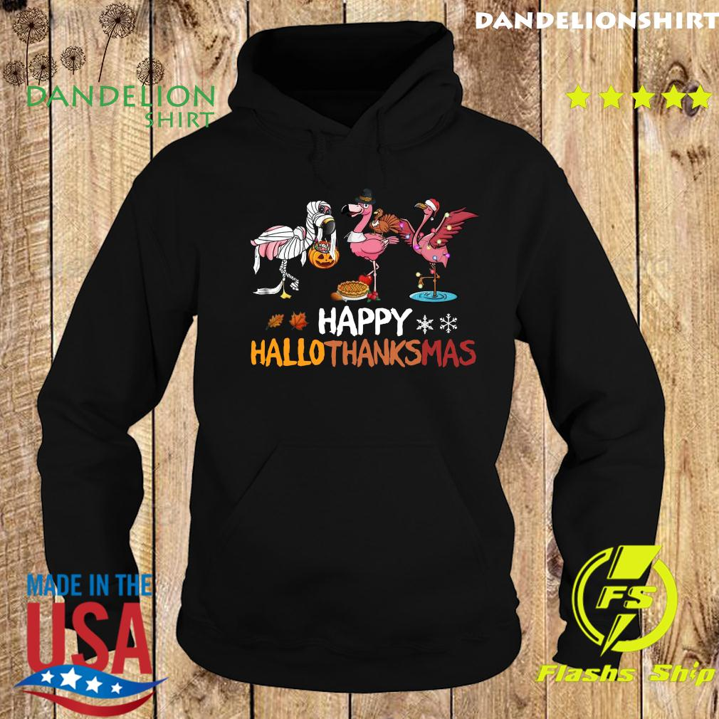 Flamingo Happy Hallothanksmas Classic Shirt Hoodie
