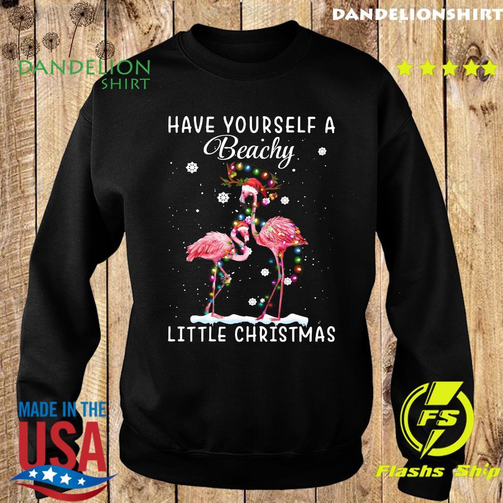 Flamingos Have Yourself A Beachy Little Christmas Sweatshirt