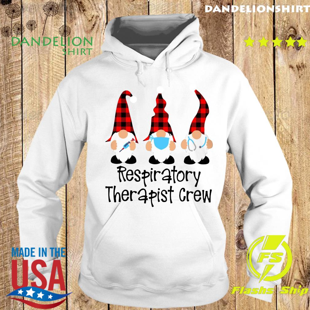 Gnome Nurse Respiratory Therapist Crew Merry Christmas Sweats Hoodie