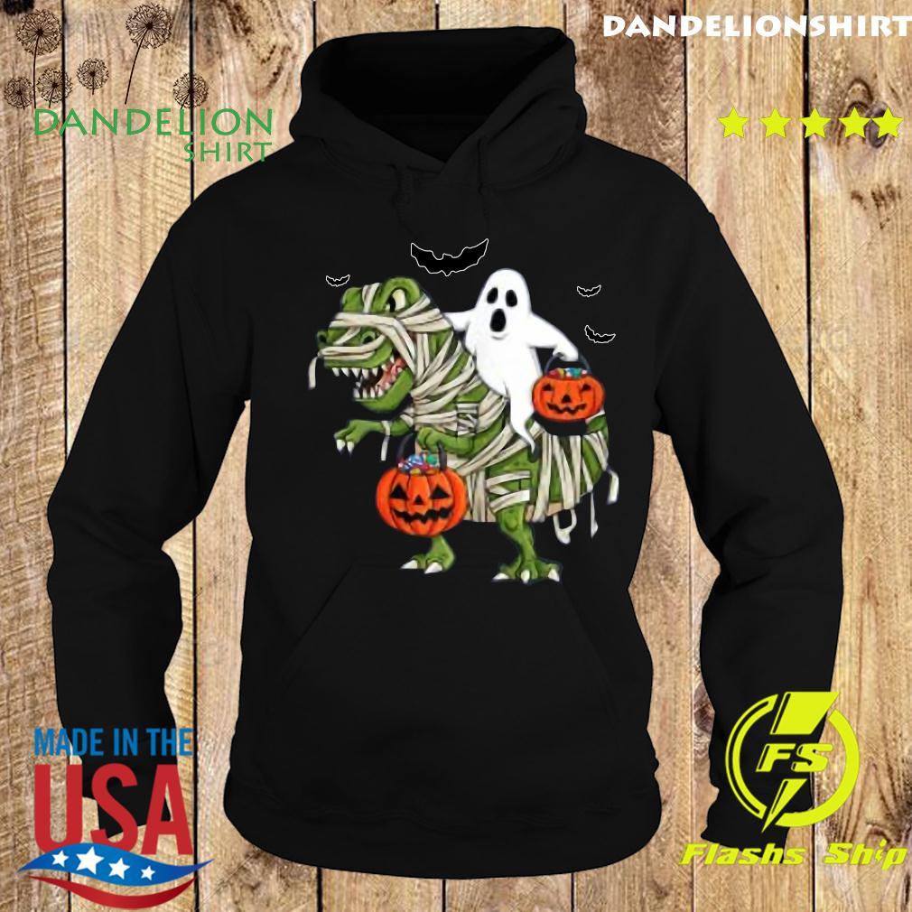 Halloween Ghost Riding T Rex Funny Boys Girls Kids Gift 2020 Shirt Hoodie