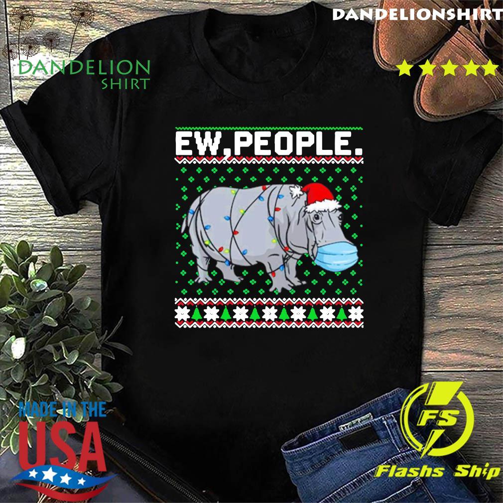 Hippopotamus Ew People Christmas Classic T-Shirt