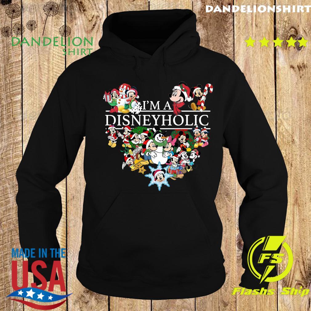 I Am A Disneyholic Mickey Disney Snowman Merry Christmas Sweats Hoodie