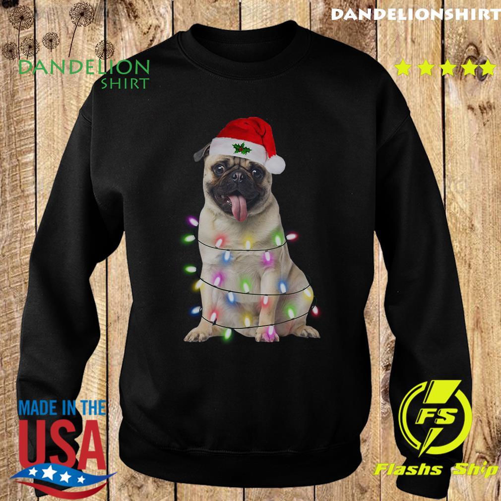 Santa Pug Dog Merry Christmas Sweatshirt