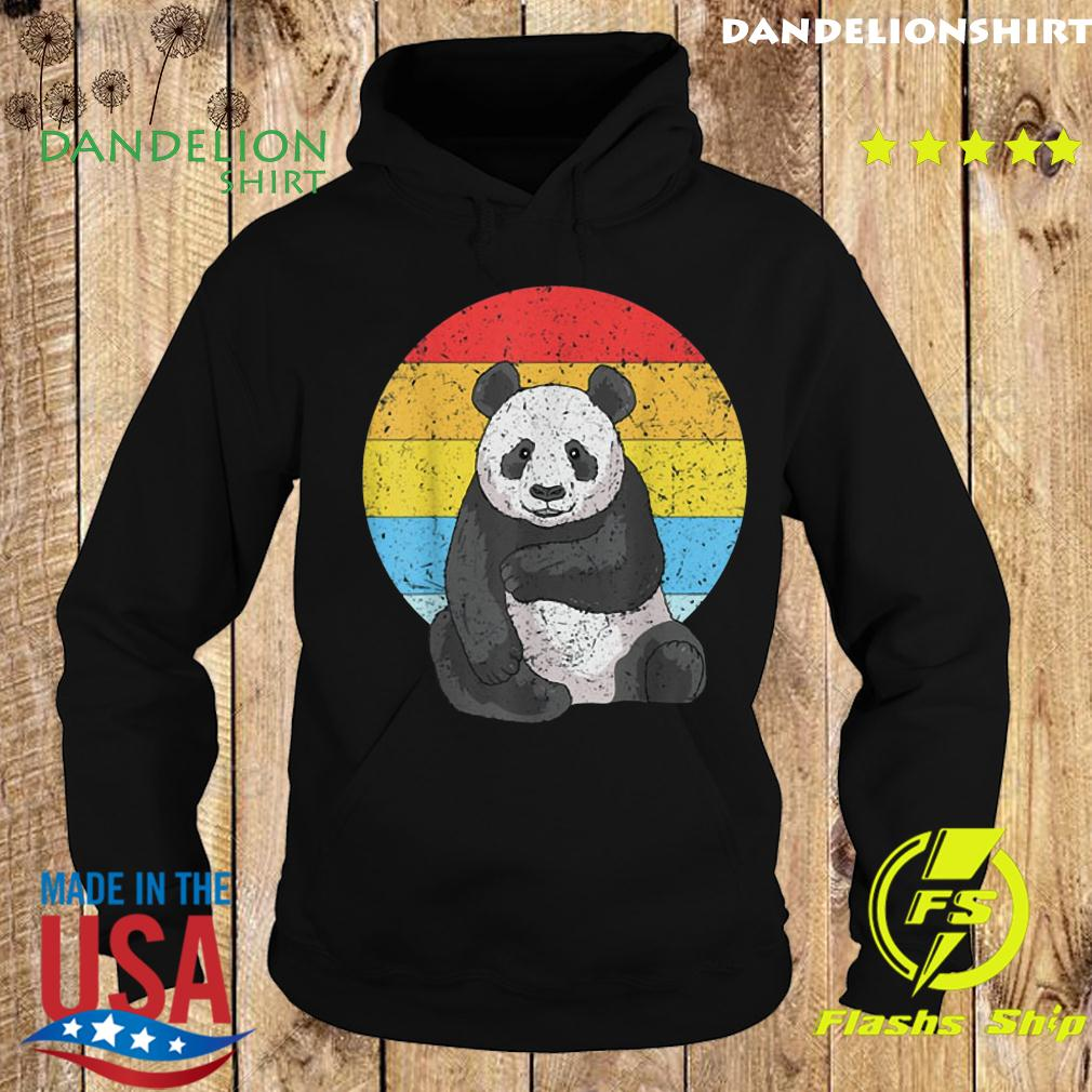 Sunset Panda Vintage Retro Panda Shirt Hoodie