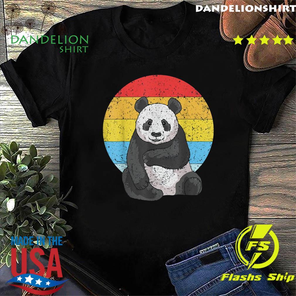 Sunset Panda Vintage Retro Panda Shirt