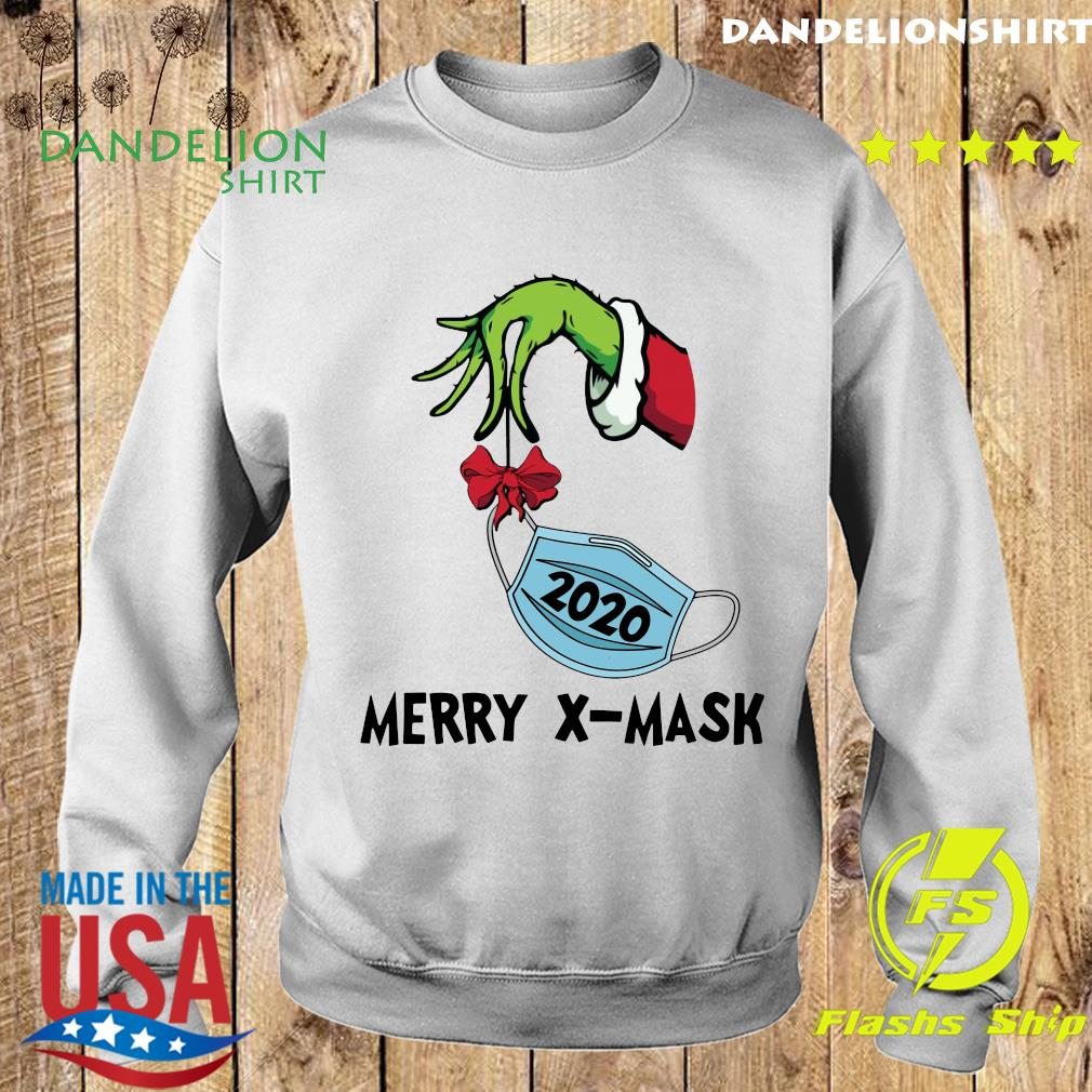 The Grinch Hand holding 2020 Merry X-mask Sweatshirt