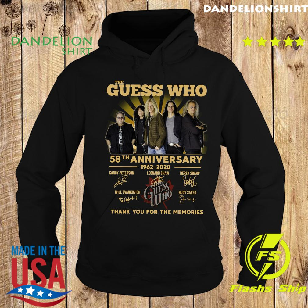 The Guess Who 58th Anniversary 1962 2020 Thank You For The Memories Signatures Shirt Hoodie