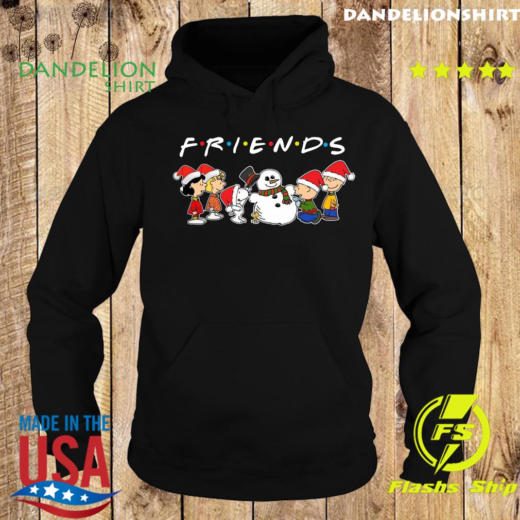 The Peanuts And Snowman Friends Merry Christmas Sweats Hoodie