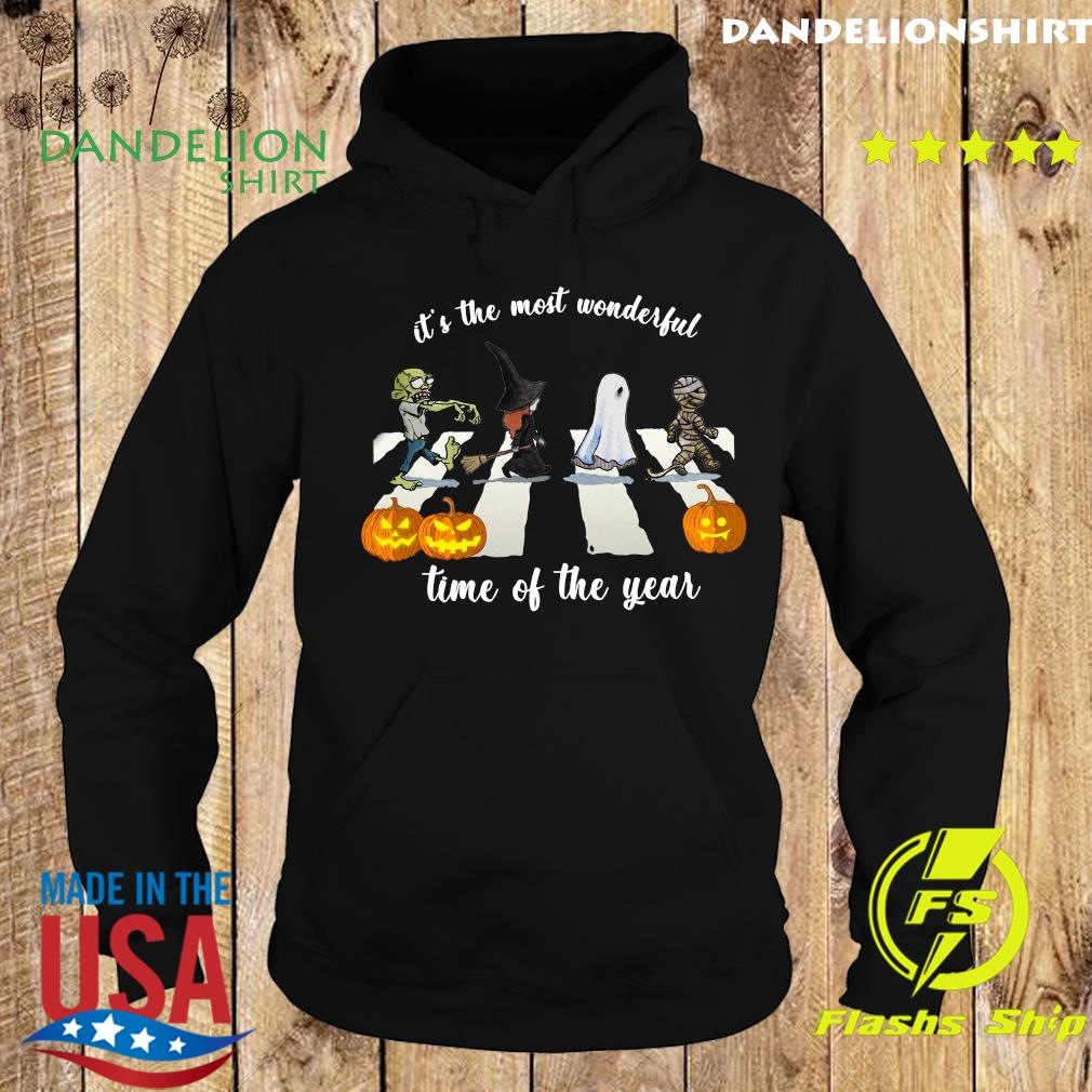 Zombie Abbey Road It's The Most Wonderful Time Of The Year Halloween Shirt Hoodie