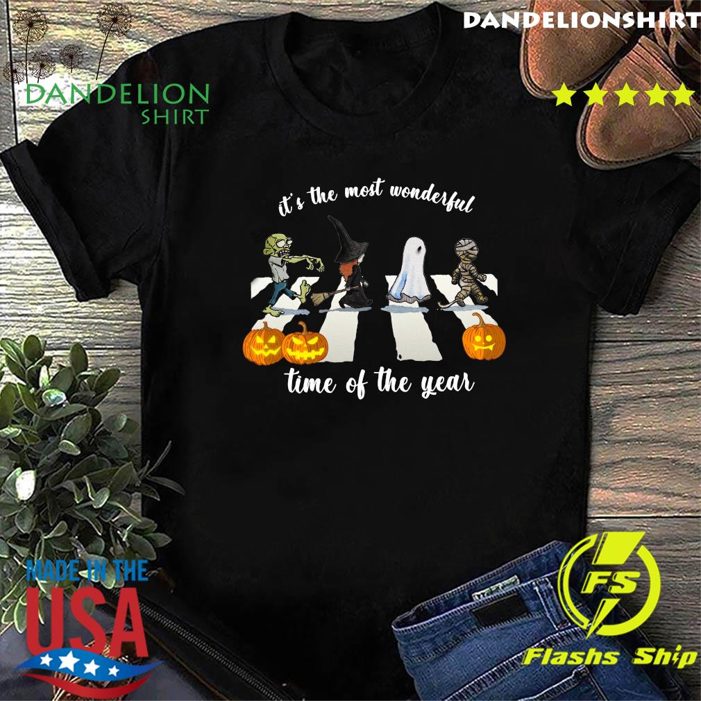Zombie Abbey Road It's The Most Wonderful Time Of The Year Halloween Shirt