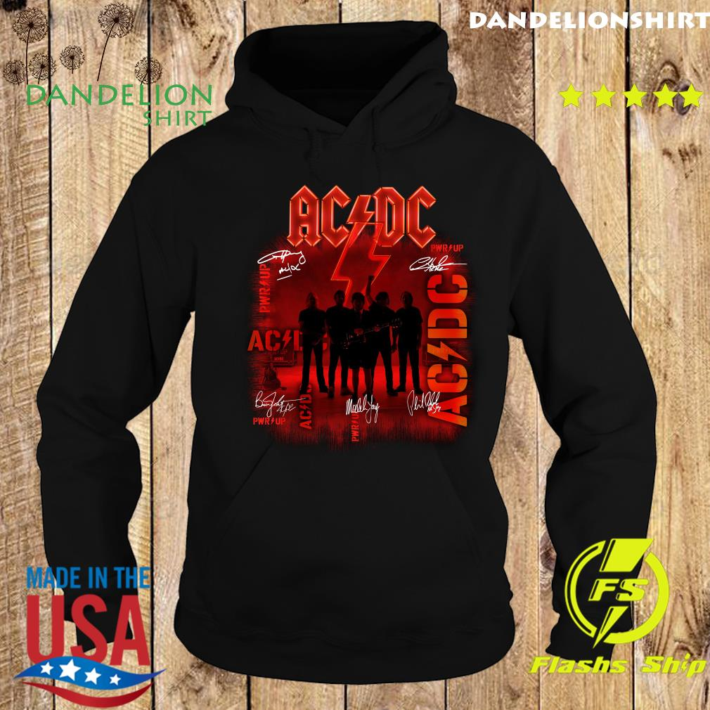 Ac Dc Rock Band Power Up Album Album Signatures Shirt Hoodie