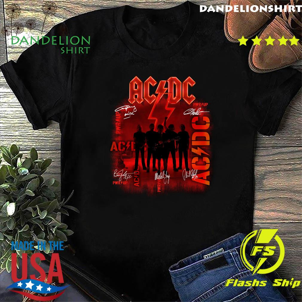Ac Dc Rock Band Power Up Album Album Signatures Shirt
