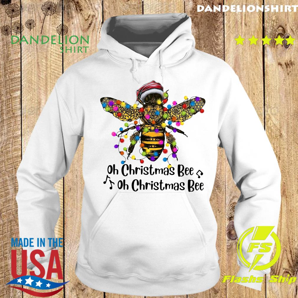 Bee Santa Oh Christmas Bee Oh Christmas Bee Light Sweats Hoodie