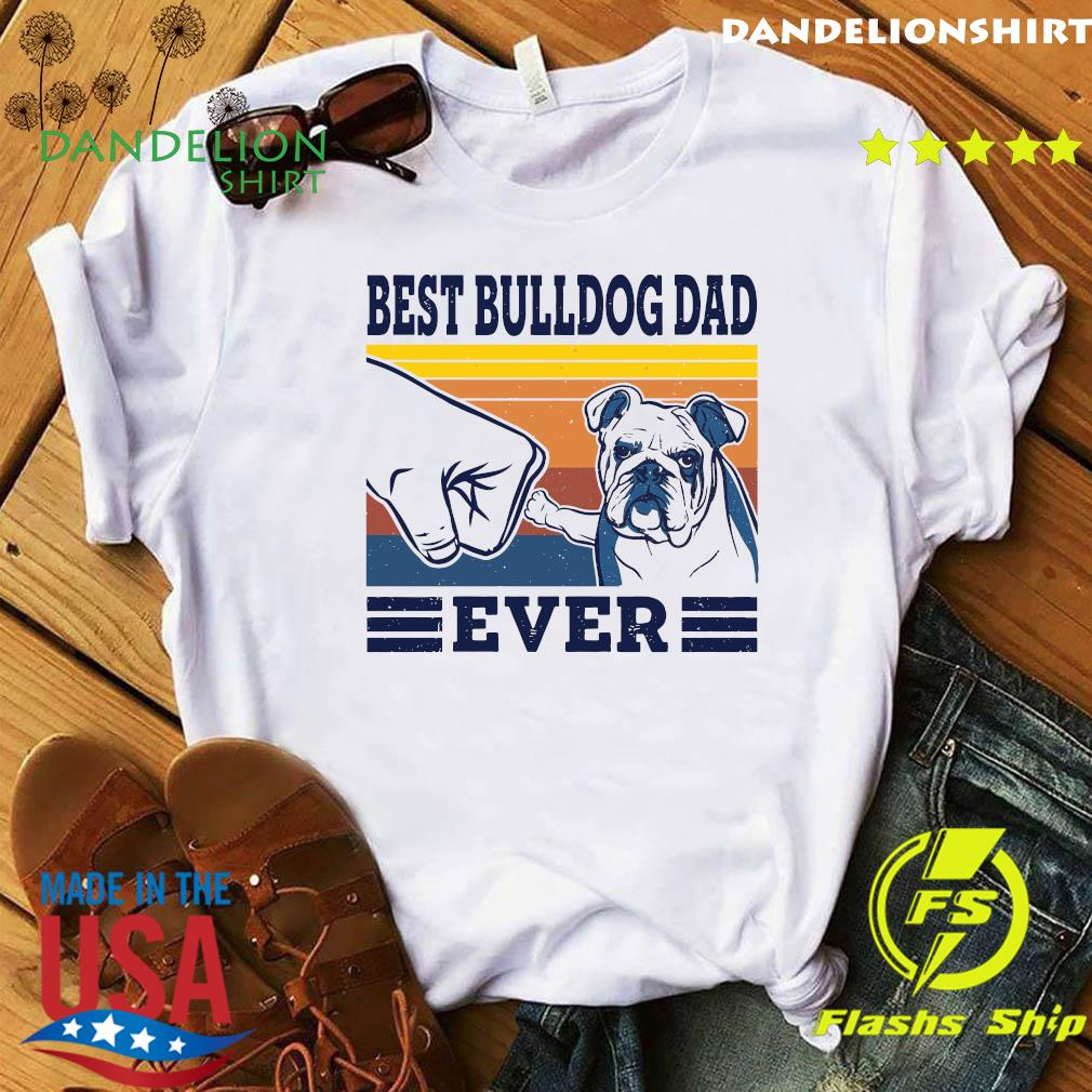 Best Bulldog Dad Ever Vintage Retro Shirt