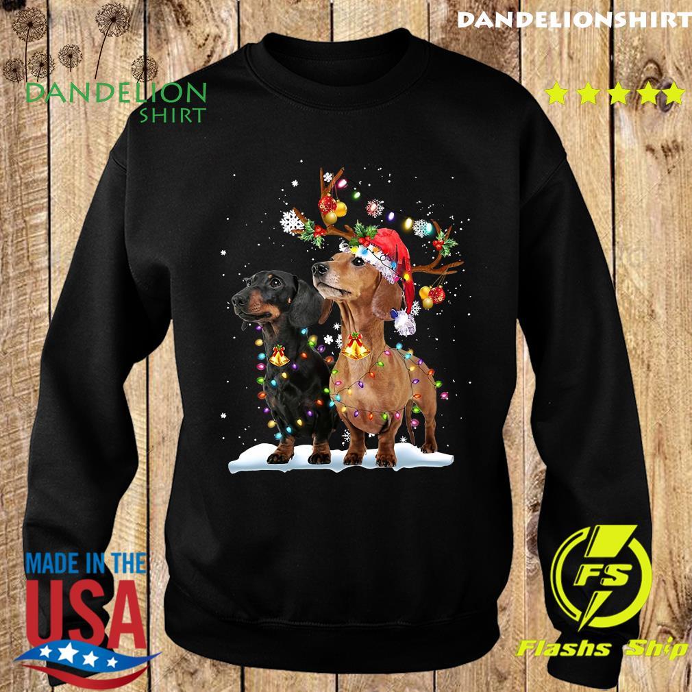 Dachshund Santa Xmas Merry Christmas Light Sweatshirt