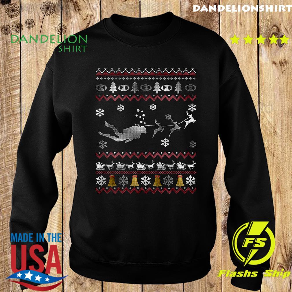 Dive Reindeer Ugly Merry Christmas Sweatshirt