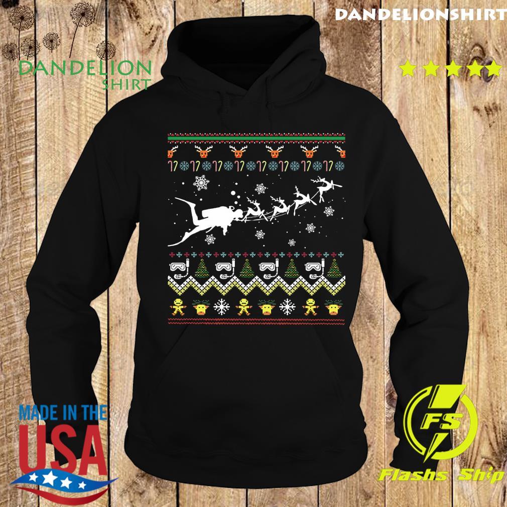 Dive With Reindeer Ugly Merry Christmas Sweats Hoodie