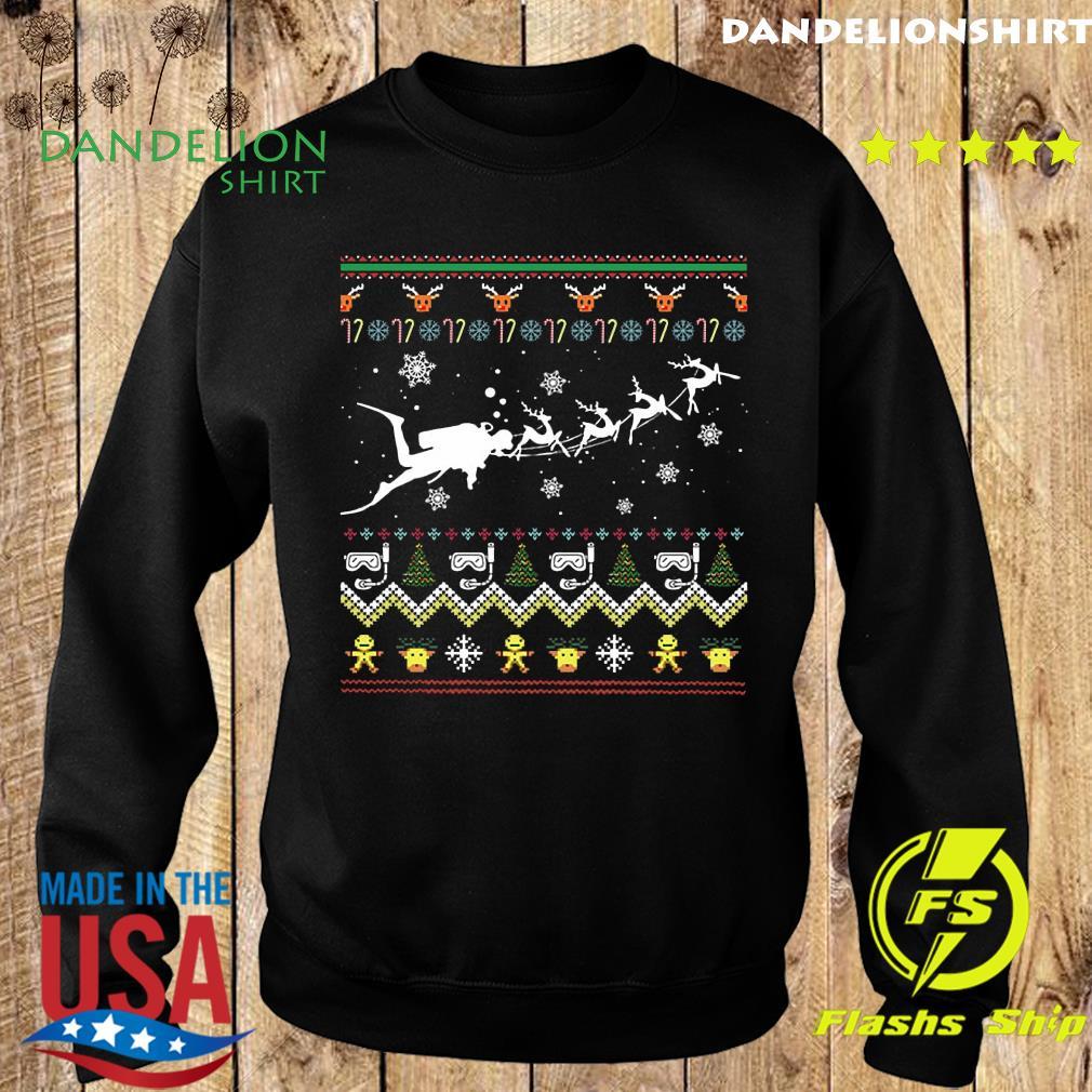 Dive With Reindeer Ugly Merry Christmas Sweatshirt