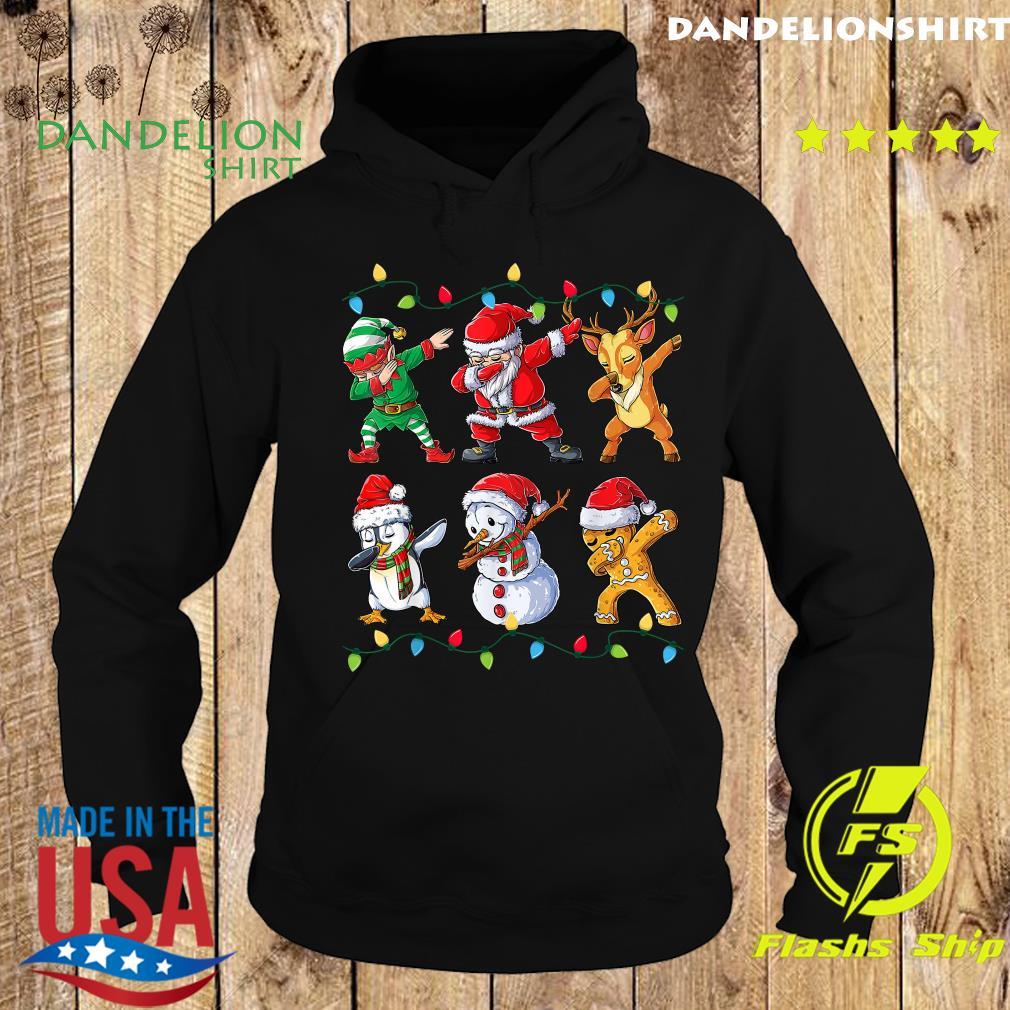 Elf Santa Claus Reindeer Penguins Snowman Gingerbread Dabbing Christmas Sweats Hoodie