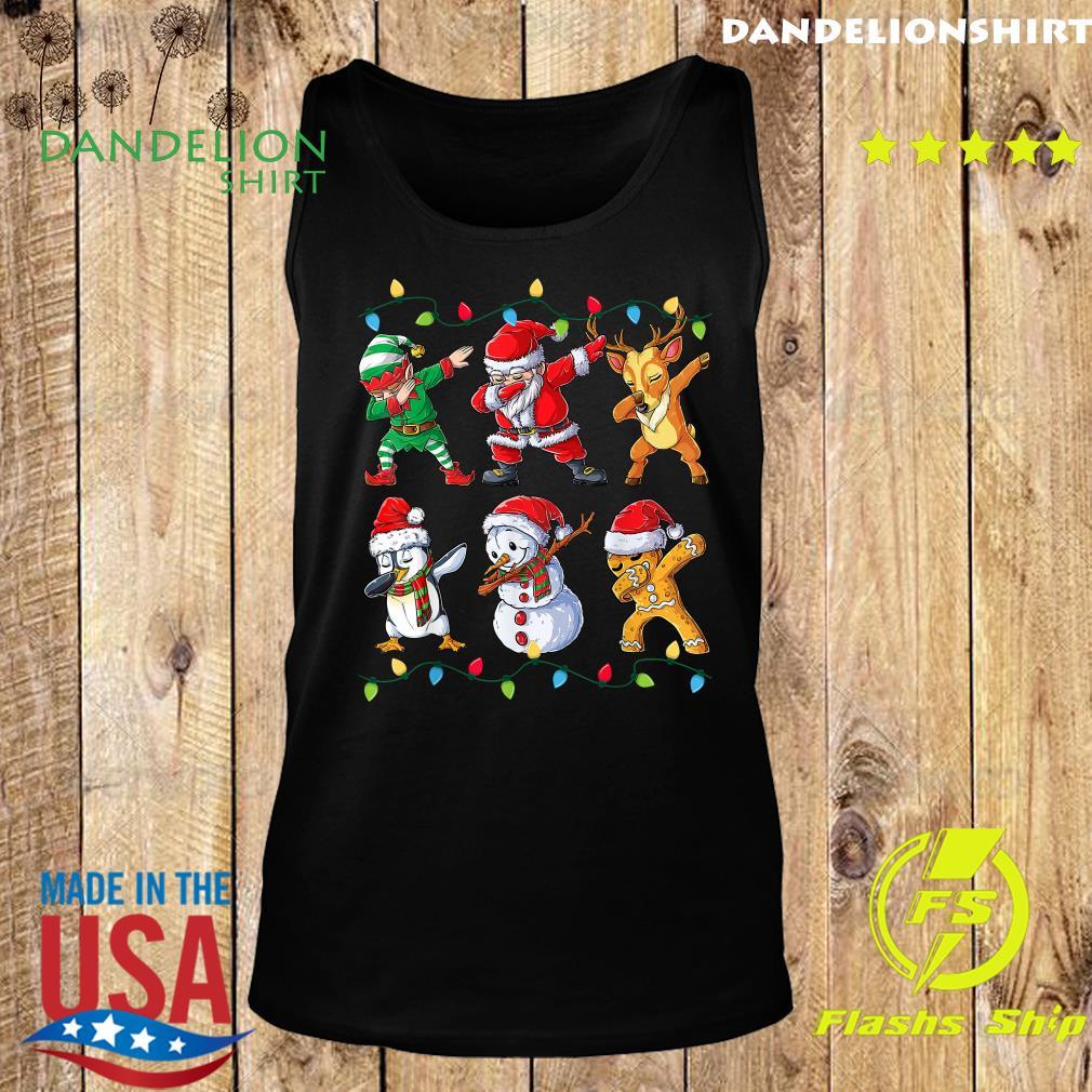 Elf Santa Claus Reindeer Penguins Snowman Gingerbread Dabbing Christmas Sweats Tank top