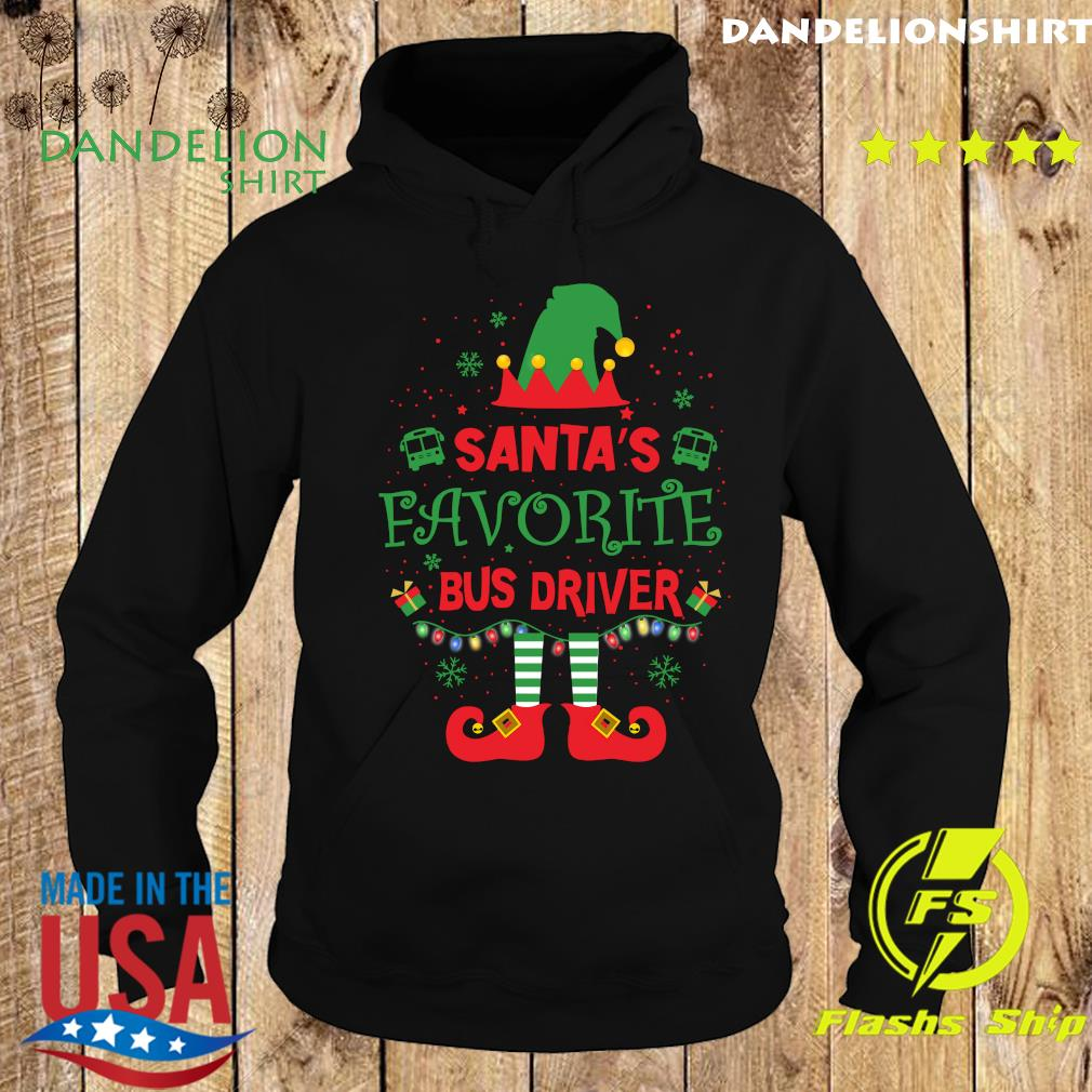 ELF Santa's Favorite Bus Driver Merry Christmas Sweats Hoodie