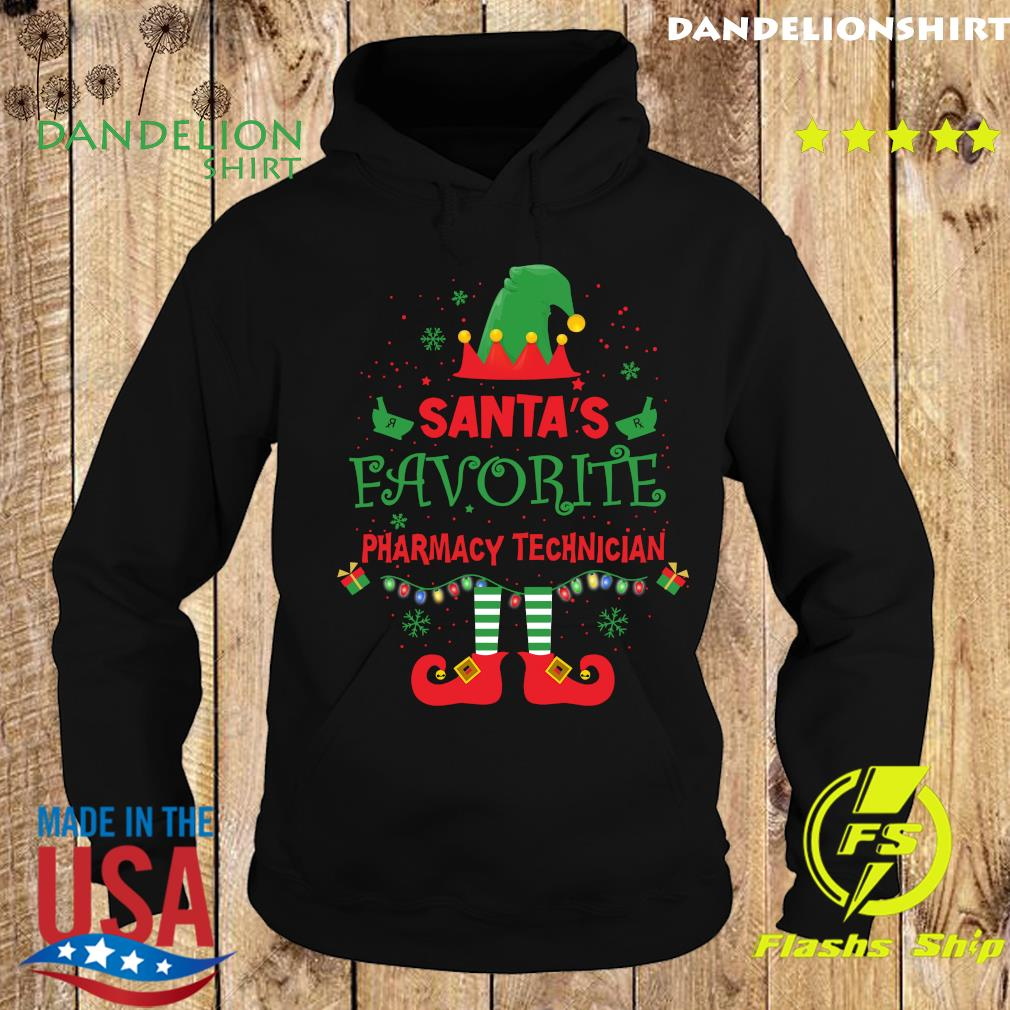 ELF Santa's Favorite Pharmacy Technician Merry Christmas Sweats Hoodie