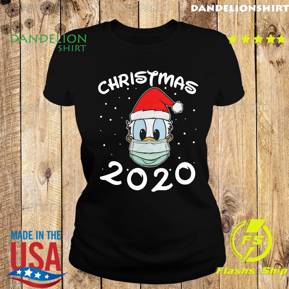 Face Donald Santa Wear Mask Merry Christmas 2020 Christmas Sweats Ladies tee