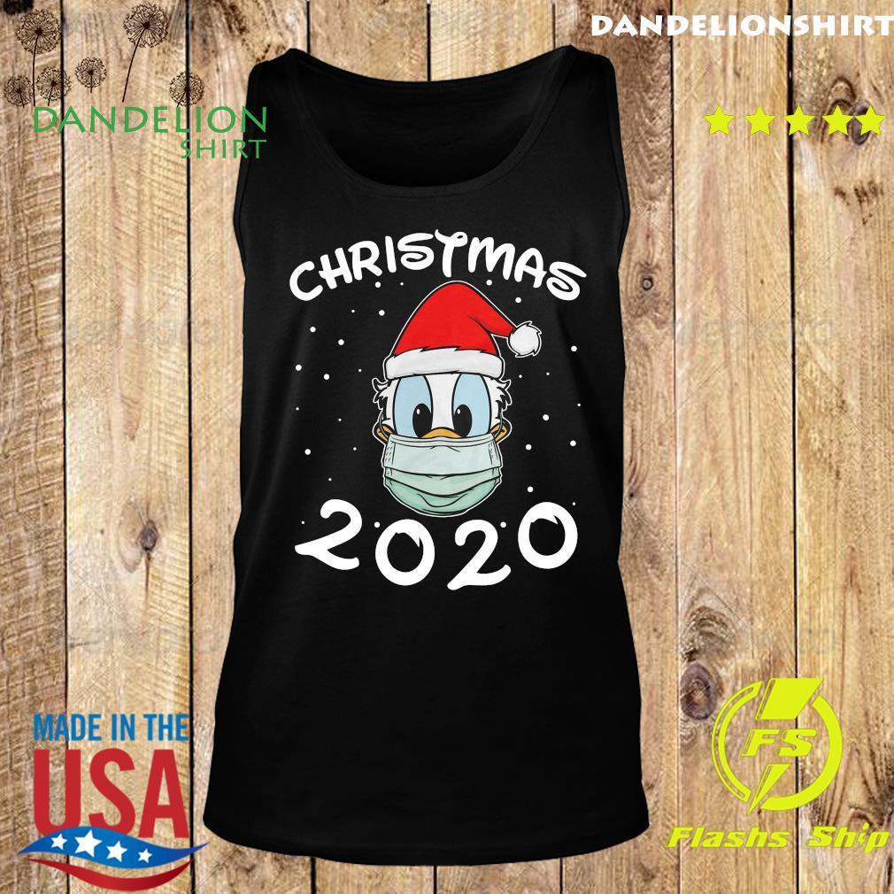 Face Donald Santa Wear Mask Merry Christmas 2020 Christmas Sweats Tank top
